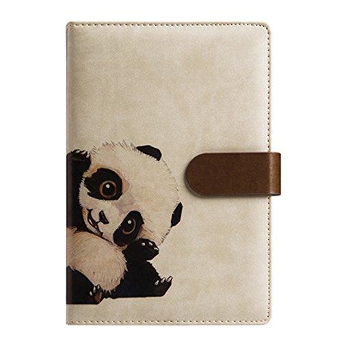 La Haute A5Notebooks Tägliche Monatliche Wochenplaner Kalender Schedule Organizer Vintage PU Cover Tagebuch Schreiben Notebook Lovely Panda