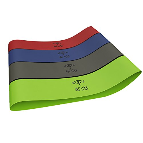 Resistance Bands-Loop Bands-Stretch Bands-Fitness Bands (Light, Medium, Heavy,Extra Heavy). Best
