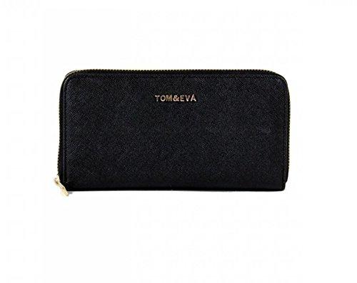 Tom & Eva Basic Portemonnaie schwarz Damen Geldbeutel Geldbörse Neu -