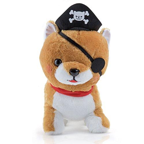Uniform Shiba Hund Pirat mit Augenklappe in blau - Manga Anime Stofftier und Kuscheltier. Kleine Plüsch Cat Katze Merchandise zum kuscheln für jeden Anime Fan oder für jedes Kind Groß und Klein als Geschenk (Einfach Piraten-kostüm-ideen Für Erwachsene)