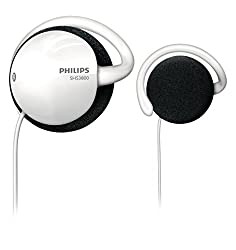 Philips Shs380098 White Supraaural Ear Hook Headphones - Headsets (Supraaural, Ear Hook, Wired, 12-22000 Hz, 1.2m, White)