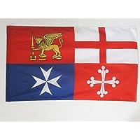 BANDIERA ITALIA QUATTRO REPUBBLICHE MARINARE 150x90cm - BANDIERA ITALIANA 90 x 150 cm foro per asta - AZ FLAG