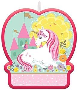 Amscan International-170521candle-flat moldedcndl Bday mágico Unicorn