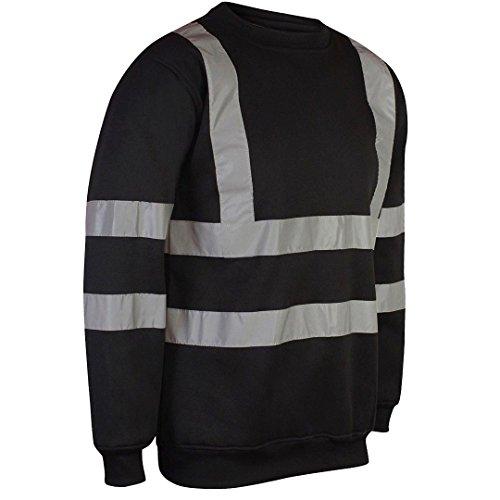 4XL Hi Vis VIZ VISIBILIDAD Camiseta De Manga Corta Cuello Redondo Trabajo De Seguridad