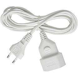 Brennenstuhl 1161660 Cordon prolongateur en Plastique, Blanc, 3 m