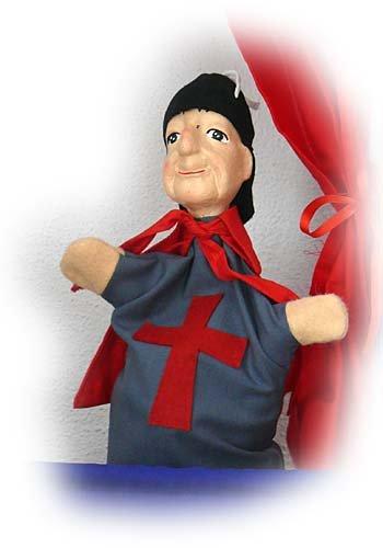 Ponche-marioneta - 4419 Caballero plástico duro-