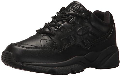 Propet M2034Herren Stabilität des Walker Sneakers Leder Schuhe, schwarz - schwarz - Größe: 45 EU 2A -