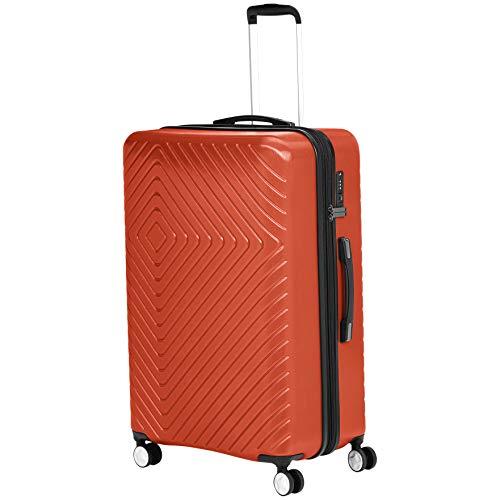 AmazonBasics - Trolley con motivo geometrico, 78 cm, Ruggine