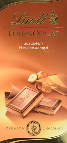 Preisvergleich Produktbild Lindt & Sprüngli Nougat Tafel,  10er Pack (10 x 100 g)