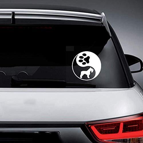 Cars Aufkleber Auto 14,9X14,9 Cm Yin Yang Schnauzer Kunst Dekor Aufkleber Hund Miniatur Auto Aufkleber Für Auto Laptop Fenster Aufkleber -