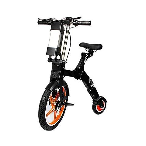 HuanLeBao Unique roue avant 18 pouces avant roue arrière de 8 pouces Scooter électrique scooter Mini scooter électrique pliable , Orange