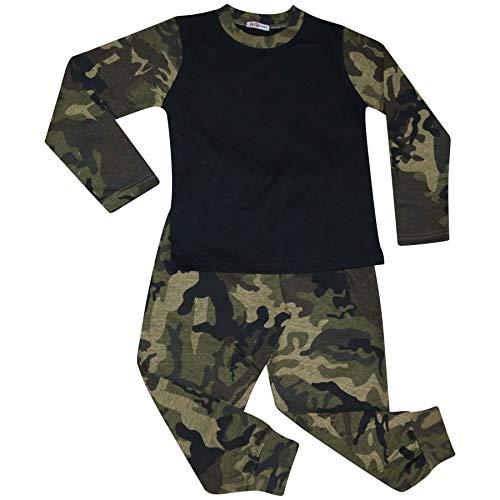 A2Z 4 Kids Kinder Mädchen Jungen Camo Grün Pyjama Designer - PJS Plain 175 Camo Green_13 (Camo Jungen Schlafanzug)