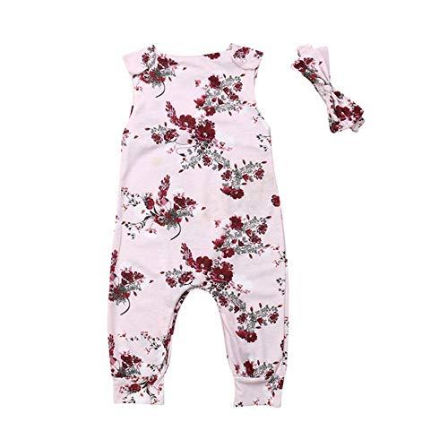 Baby Born Drachen Kostüm - Wang-RX Blumen-Baby-Mädchen-Kleidungs-Säuglings-neugeborenes Baby-Spielanzug-Sleeveless