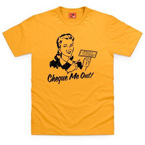Cheque T-Shirt, Herren Gelb