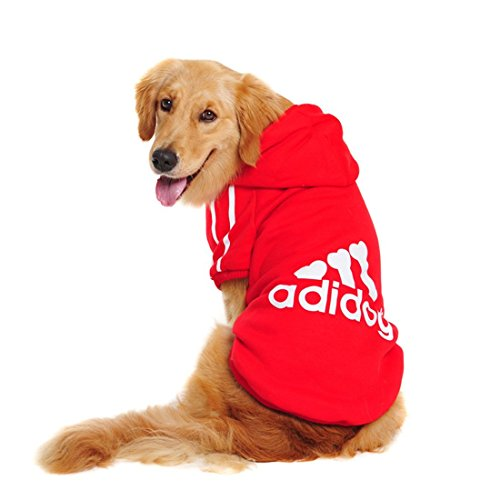 Aisuper Puppy Dogs Cats Pets Clothes Hoodie Golden Retriever French Bulldog Poodle Pug Sports Fashion Cool Plain Warm Autumn Winter T Shirts Jackets Costume (7 Colours Full Size XS-9XL)