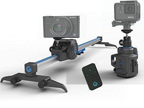 The Movie Maker es el kit de movimiento de cámara más pequeño del mundo – deslizador electrónico + cabezal panorámico de 360°, cabe en un paquete de día