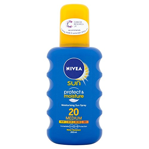 Nivea Sun Protect and Moisture Moisturising Sun Spray Medium SPF 20, 200 ml
