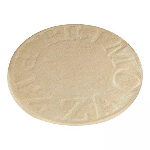 BBQ-Scout 8348 Primo Pizza Stein Natur 39 cm für Oval 400 XL, 300 Large und Kamado