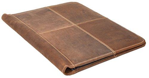 """Carpeta para Documentos Gusti Leder studio """"Adrian"""" Organizador de Cuero Tablet Universidad Vintage Marrón Claro 2S37-20-5wp"""