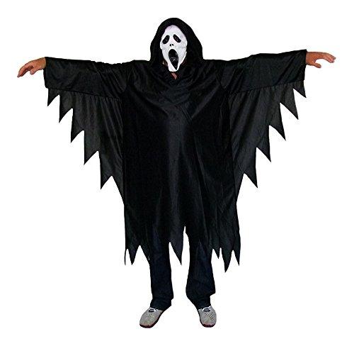 Horror Scream Geister Kostüm für Herren Gr. M