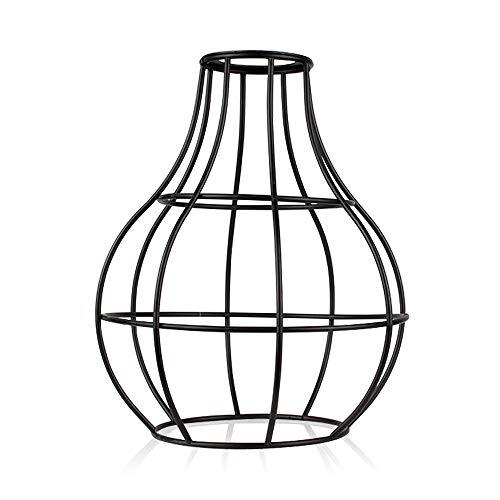 FMWLKJ - Lámpara de pie de metal E27 Shade Diy para restaurante, cafetería, oficina, retro, luz de pie
