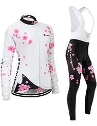 Maillot de Cyclisme Femme Manches Longues jersey(S~5XL,option:Cuissard,3D Coussin) N207