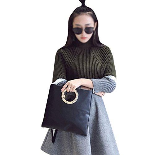 mode Handtaschen Tasche neue cluth einfach LAHAUTE archaistische schwarz schultertasche xnXZqSSp