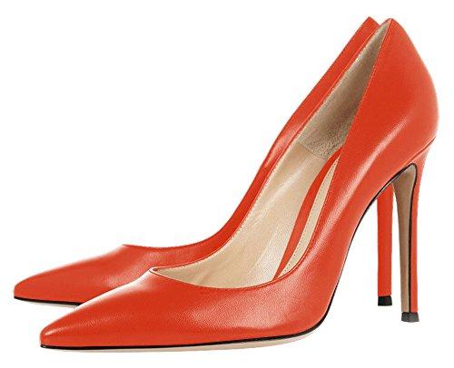 ... Guoar Damen Große Größe Geschlossene Toe Pumps Spitze Zehen Rutsch  Mehrfarbig Stiletto Büro-Dame Ballsaal ...