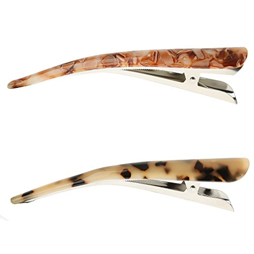 Accesorios Para El Cabello Mujer Mano Haciendo Impresión de Leopardo Pinza de Pelo de Pico de Pato