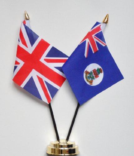CAYMAN Inseln und United Kingdom Freundschaft Tisch Flagge Display 25cm (25,4cm) -