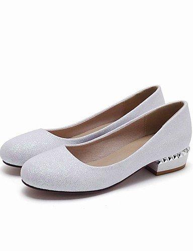 WSS 2016 Chaussures Femme-Mariage / Bureau & Travail / Habillé / Décontracté / Soirée & Evénement-Noir / Blanc / Argent / Or-Talon Bas-Talons / golden-us6.5-7 / eu37 / uk4.5-5 / cn37
