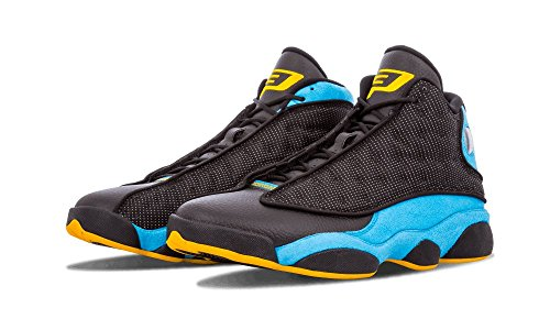Nike Air Jordan 13 Retro Cp Pe, Chaussures de Sport Homme Multicolore - Negro / Azul / Amarillo (Black / Sunstone-Orion Blue)