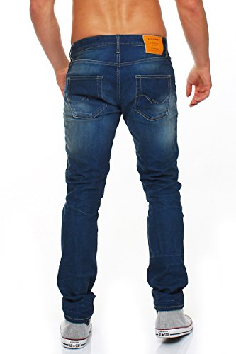 JACK & JONES Herren Jeans stretchhose Slim Fit Blau