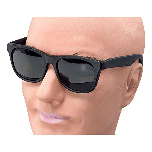 Bristol Novelty BA949 Gangster Brille, Unisex- Erwachsene, Schwarz, Einheitsgröße