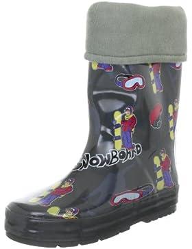 Beck Snowboard grau 457 - Botas de agua de caucho para niño