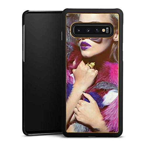 DeinDesign Holz Hülle kompatibel mit Samsung Galaxy S10 Plus Wooden Case Echtholz Handyhülle Woman Frau Sonnenbrille
