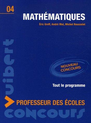 Mathématiques : Concours professeur des écoles