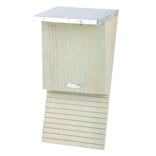 Fledermauskasten mit Dach - naturfarben mit leichtem Grünstich - aus FSC®-zertifiziertem Kiefernholz - Dach aus Zinkblech - unterstützt den Naturschutz