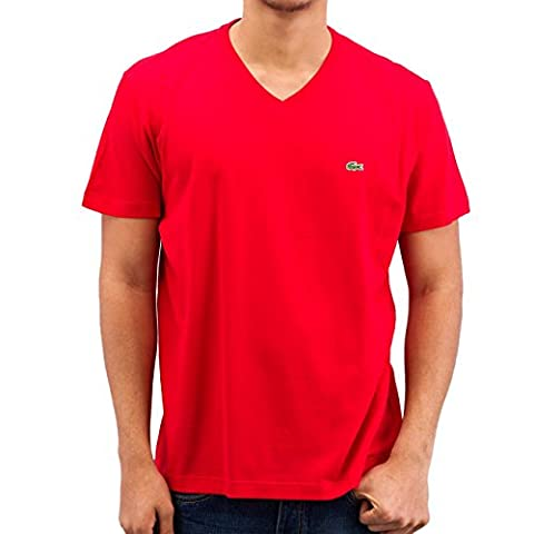 Lacoste TH2036 Klassisches Herren Basic T-Shirt, V-Ausschnitt, Kurzarm, Regular Fit,