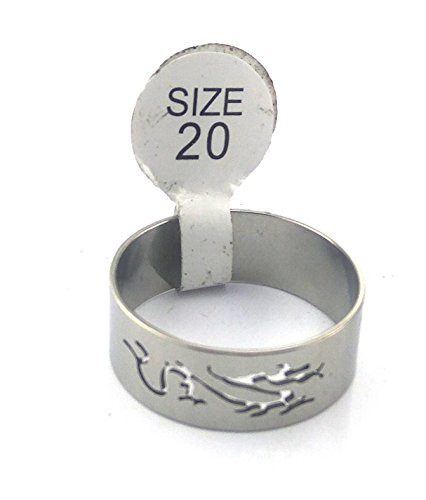 JD India Gems & Rings JD's Tribal Dragon Designed Hard Metal Ring for Men & Women: Indian Size: 20 (Click on JD India Gems and Rings to see all our Products)