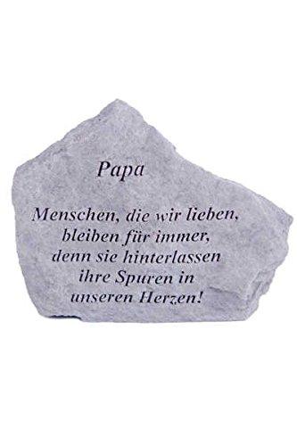 Vidroflor Gedenkstein Papa. aus Steinguss 18 x 14 cm Grabschmuck