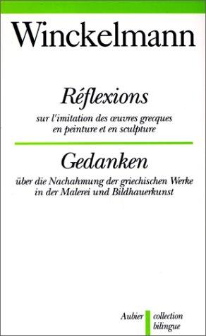 REFLEXIONS SUR L'IMITATION DES OEUVRES GRECS