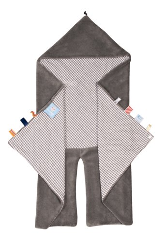 snoozebaby 402 Trendy Wrapping Wickeltuch Organic Hippo Grey