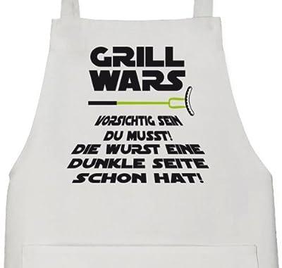 Lustige Grillen Barbecue Schürze von Shirtstreet24 mit Dunkle Seite Grill Wars Aufdruck