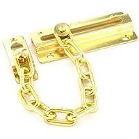 Securit - Candado de seguridad con cadena y tornillos (revestimiento de latón)