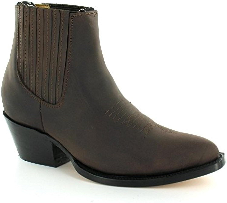 maverick, broyeurs de noir de en cuir et les bottes de noir cow boy occidentale brun de crazy horse b00oqgnvdw parent f0a9a8