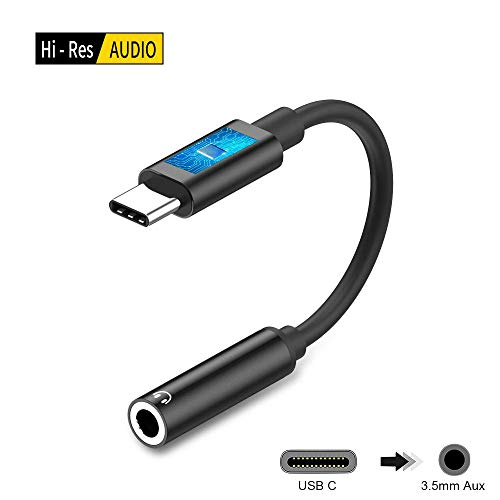 Beyeah Aux USB C Adapter, Type C auf 3,5mm Adapter, Überlegene Kompatibilität, für Huawei & Google & HTC & Moto & Sony & MacBook Adapter und viele mehr (Schwarz) Apple Stereo-adapter