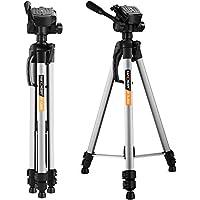 "Camera Light Tripod ,K&F Concept® Compact Travel tripod 66""/168cm with 3-Way Head, 3KG Load Capacity for DSLR Canon Nikon Sony"