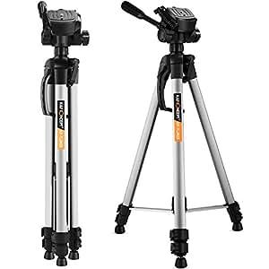 K&F Concept TL2823 Trepied Appareil photo en Aluminium avec Tete 3D rapide 3 Sections, Trepied photo Canon Nikon Sony Hauteur Maximum:168cm Max:3kg