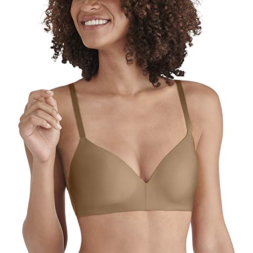 Beige Full Coverage Bra (Vanity Fair Damen Nearly Invisible Full Coverage Wirefree Bra 72200 BH, Totally Tan, 90B)
